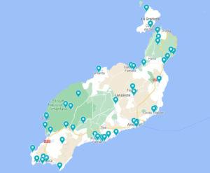 Mapa Lanzarote Madreatgirl